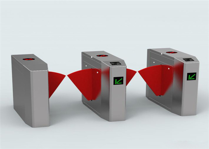 Entrance Security Flap Barrier Gate Pedestrian Turnstile With IR Sensors