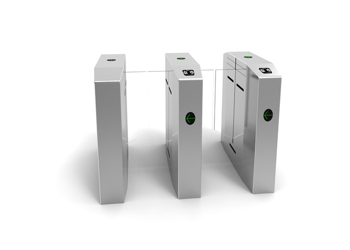Programmable RFID Access Control Turnstiles Flap Barrier Gate 220V 50HZ