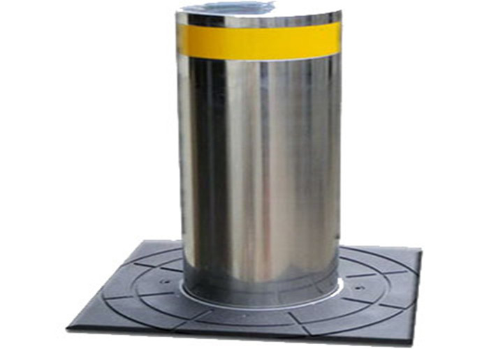 Customized Durable Retractable Automatic Rising Bollards With 275mm Diameter