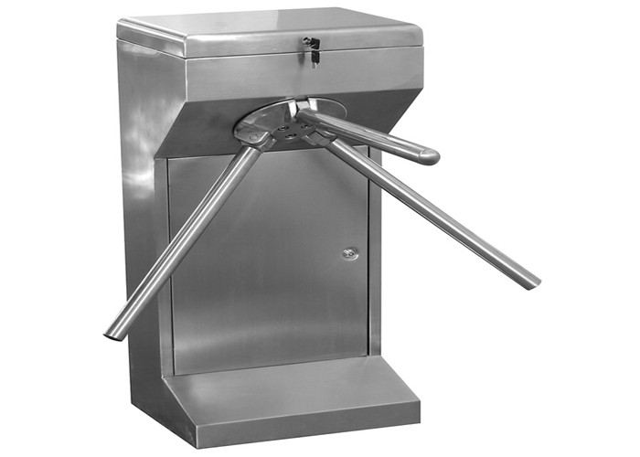 Electronic Half Height Tripod Turnstile Gate With Power Motor
