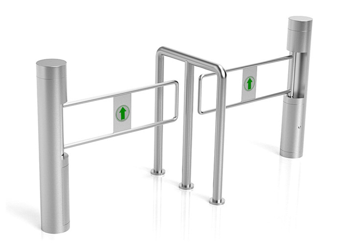 DC 24V Pedestrian Swing Gate SS304 Arm 1500mm Width Passage Optical For Wheelchair