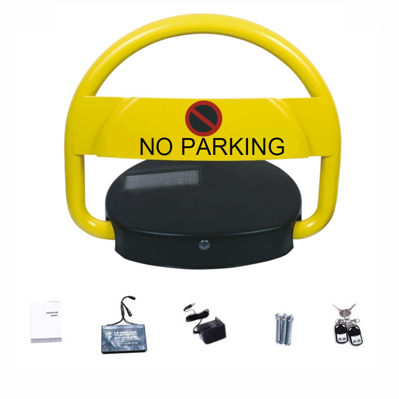 Waterproof Car Parking Lock Automatic Solar Panel Power Steel Rolling Frame Material